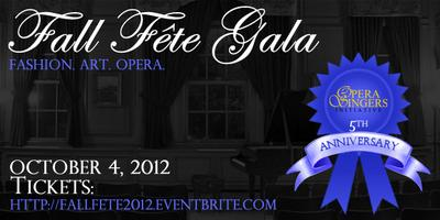 Fall Fête Gala: Fashion. Art. Opera.