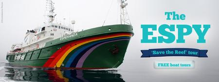Come on board the Greenpeace Esperanza ship in Townsvil...