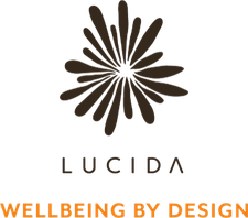 Lucida, Wellbeing by design logo
