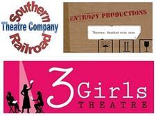 Southern Railroad Theatre Company, Entropy Productions & 3Girls Theatre Company logo