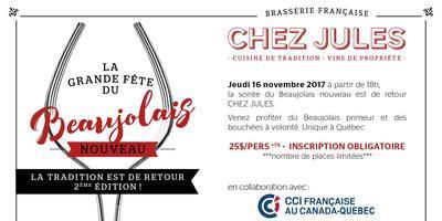 Beaujolais Nouveau 2017 - CHEZ JULES