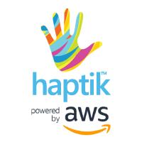 Haptik & AWS logo