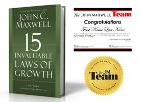 "1-DAY WORKSHOP ""The 15 Invaluable Laws of Growth"""