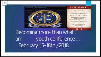 Becoming more youth conference  logo