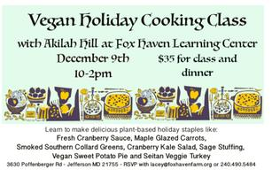 Vegan Holiday Cooking Class