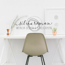 Interior design and calligraphy logo