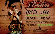 AYO JAY LIVE IN CONCERT @ WHISPERS BLACK FRIDAY 2017 logo
