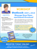 Outlook WORKSHOP: Manage Your Time with Outlook, Peggy...