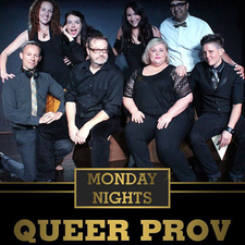 Queer Improv Society of Vancouver logo