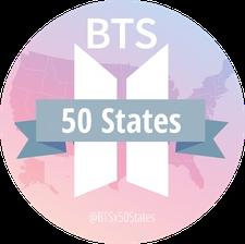 BTSx50States logo