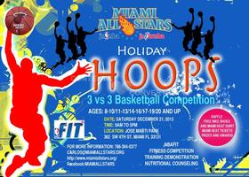 HOLIDAY HOOPS BASKETBALL 3 VS 3 COMPETITION ALL AGES