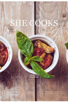 Ashley Christmas/She Cooks logo