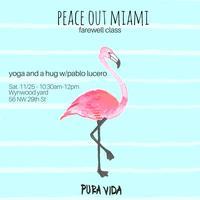 Farewell Yoga Class and a Hug w/Pablo Lucero