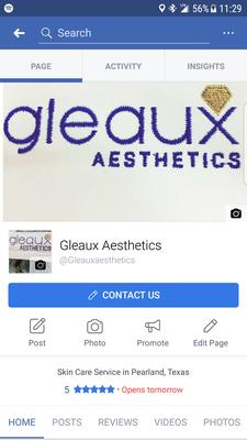 Gleaux Aesthetics logo