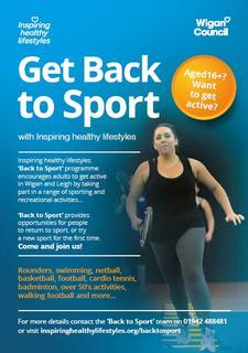 Inspiring healthy lifestyles (Back to Sport) logo