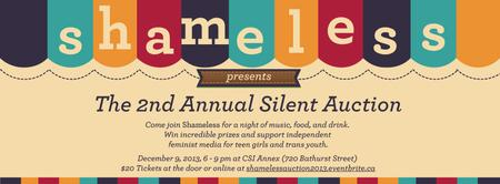 Shameless Silent Auction 2013