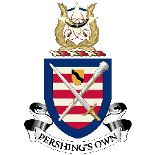 "The U.S. Army Band ""Pershing's Own"" logo"