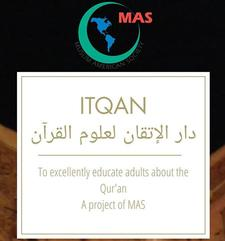 ITQAN (a project of the Muslim American Society) logo