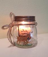 """Pour & Paint:Canvas painting """"Reindeer Mason Jar"""""""