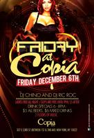 """Friday Afterwork Party at Copia- Free on """"The E&R..."""