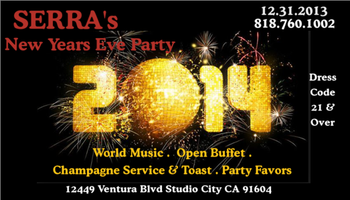 NEW YEARS EVE PARTY @ SERRA's