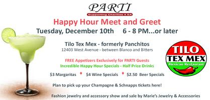 PARTI Happy Hour on December 10th at Tilo Tex Mex...