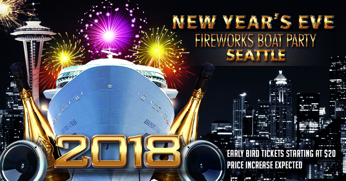 New Year S Eve Fireworks Boat Party Seattle The Fun