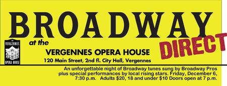 Broadway Direct at the Vergennes Opera House