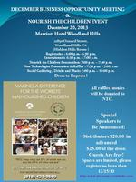 DECEMBER BUSINESS OPPORTUNITY MEETING  & NOURISHTHE CHILDREN...