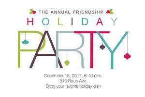 Friendship Holiday Party - child care registration