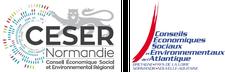 Le CESER de Normandie et Les CESER de l'Atlantique logo
