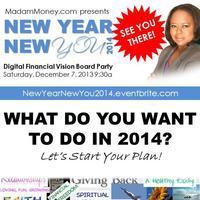 """New Year New You 2014"" Digital Financial Vision Board..."