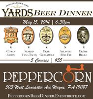 Yard's Beer Dinner @ Peppercorn Main Line