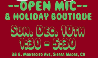 Open Mic and Holiday Boutique