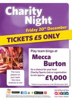 Charity Night at Mecca Burton!