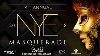 4th Annual Houston New Year's Eve Masquerade Ball Party 2018 at Cafe Europe
