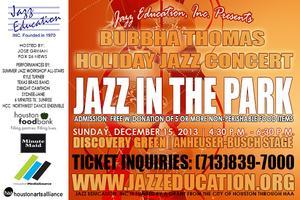 "Bubbha Thomas Holiday Jazz Concert ""Jazz in the Park"""