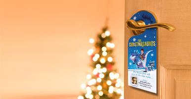 Colour in your own Christmas door hanger