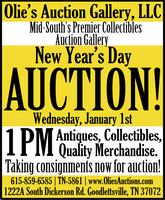 New Year's Day Auction