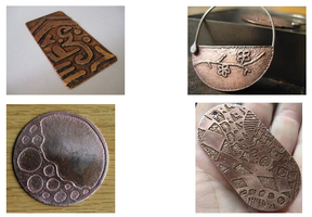 Jewelry:  Etching onto Metal