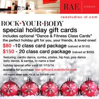 Rae Studio's: Special Holiday Gift Cards (Dance &...