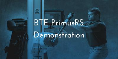 BTE PrimusRS Demonstration - Liverpool