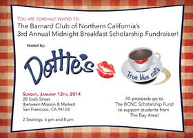 3rd Annual Midnight Breakfast Fundraiser
