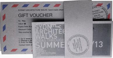 SAW 1 - The City: Sydney. Gift Vouchers - 2013