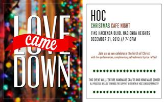 Love Came Down Christmas Cafe Night