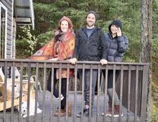 Dan Dumsha, Jamie Chrest, and Sarah Dawn Pledge logo