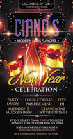 Ciano's Modern Latin Flavors New Year's Eve Celebration