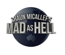 Shaun Micallef's MAD AS HELL logo