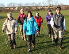 South Northamptonshire Council Learn to Nordic Walk logo