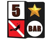 5 Star Dive Bar Ybor City logo
